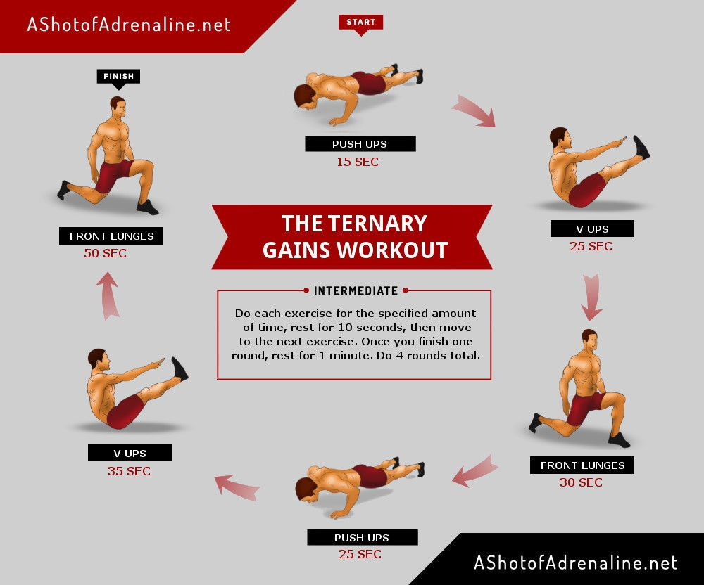 The Ternary Gains Workout infographc