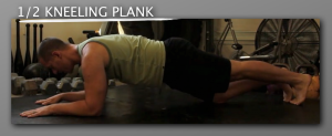 half Kneeling Plank progression