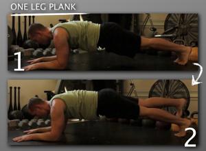 One Leg Plank progression