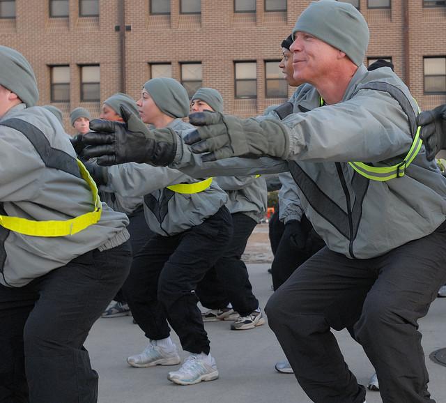 group pistol squat